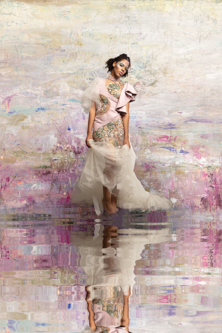 composite-photo-fashion-modelo-in-impressionist-garden-painting